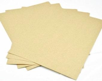 A4 STICKER PAPER (Set of 5 Sheets) - A4 Kraft Sticker Set (21cm x 29cm)
