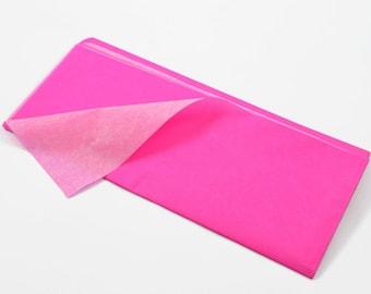 NEON (Pink) TISSUE PAPER - Pink Neon Fluorescent Tissue Paper (3 Sheets)
