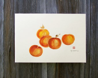 Peaches And Cream Kitchen Wall Decor Orange Kitchen Art