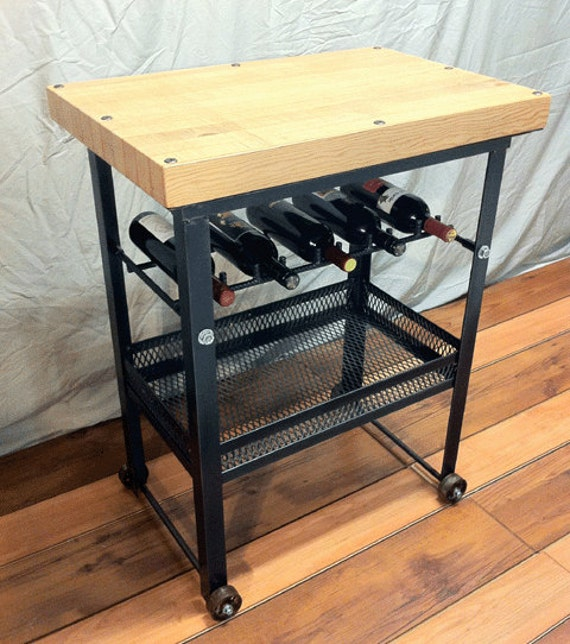 items similar to kitchen cart industrial wine rack for 5 bottles functional art by true north. Black Bedroom Furniture Sets. Home Design Ideas