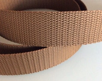 5M Webbing Policotton 31mm Wide Brown color