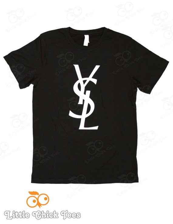 Items similar to double c 39 s dripping dripping chanel for Ysl logo tee shirt