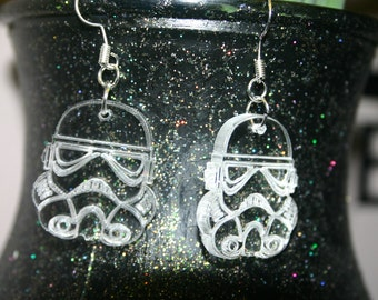 Star Wars Stormtrooper Earrings, Geek, Nerd, Great Gift - Laser Cut - Made in UK
