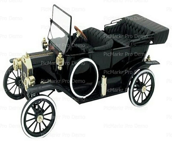 Classic Cars Antique  - Edible Cake and Cupcake Topper For Birthday's and Parties! - D9188