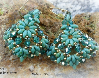 Shell earrings (graphic Tutorial in Italian and english)