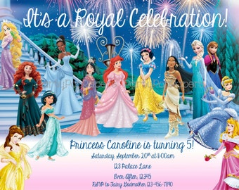 Printable Disney Princess Invitation...ALL Princesses!