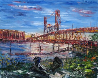 Steel Bridge Portland Oregon-Pen King -6599