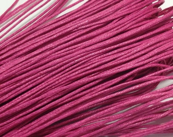 10 yds. Pink Waxed Cotton Cord 1mm for Bracelet/ Necklace