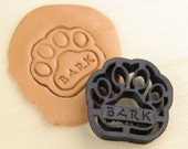 Dog Paw Bark Cookie Cutter Pet Treat