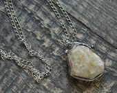 STONE AGAT ,delikate necklace,offering, handmade metal necklace with stone, one of kind