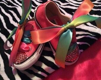 Swarovski Carnival Pink girls shoe