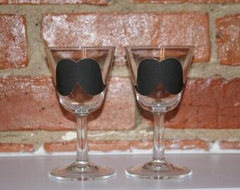 Mustache goblets