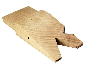 """Wood Bench Pin with 2 """"V"""" Slots  (BP1028)"""
