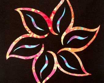 Fancy Flower Quilt Applique Pattern Design
