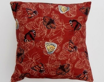 "Red and yellow butterflies pillow cover / cushion cover 18""x18"" (45x45cm) pillow throw, decorative cushion, throw pillow, decorative pillow"