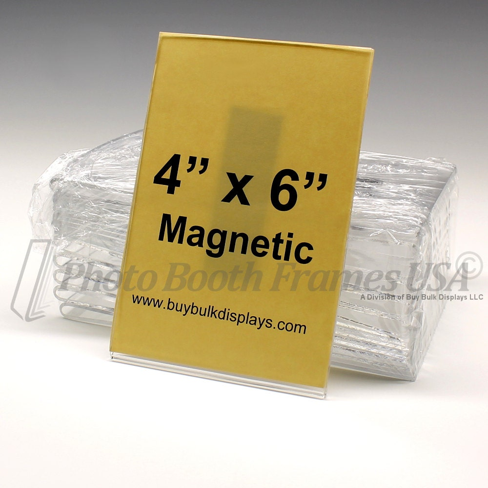 Magnetic Frames 4x6 5x7 Lot Of 50 Thick Acrylic Picture