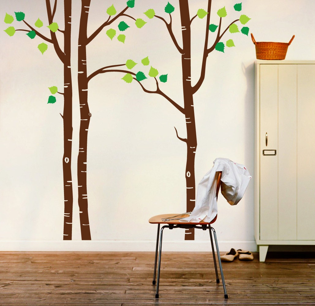 Tree Wall Decal Birch Wall Decal By Newpoint On Etsy