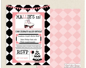 Rollerskating Party Invitation