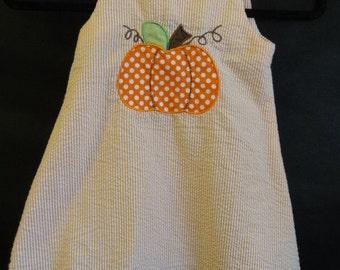 3T Pumpkin Toddler Dress