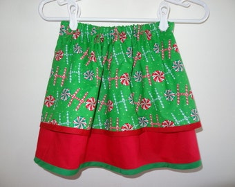 Christmas Skirt with 2 Layers for Girls and Toddlers