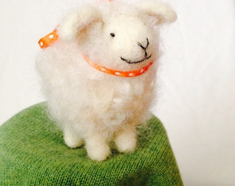 Felted Wooly Sheep