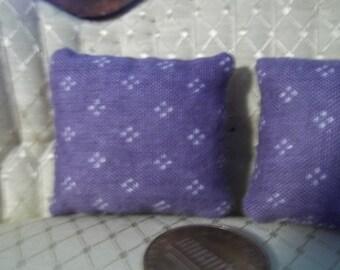 Set of 2 purple dollhouse pillows