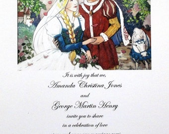 50 Renaissance Medieval Invitations for Weddings or any Occasion Customized for You