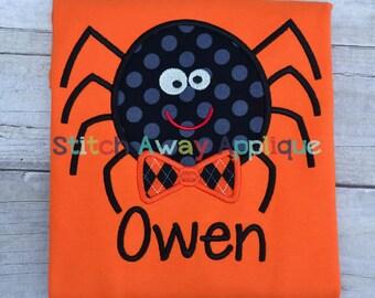 Boy Spider Halloween Machine Applique Design