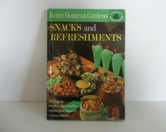 Vintage Better Homes and Gardens  Snacks and Refreshments 1963