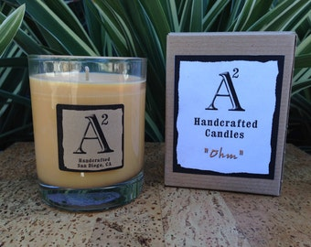 Ohm Soy Candle / 8oz Glass Container / Natural Eco-friendly Sustainable Wax / Made in America