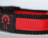 WOW Horde Inspired Dog Collar Cat Collar/Cosplay/Geekery/RPG/Adjustable featured image
