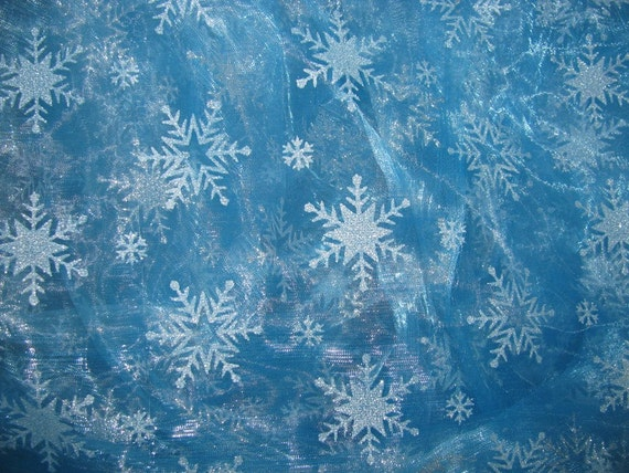 Frozen Elsa Sky Blue Organza Snowflake By Tootiefruitytutushop