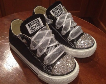 Black Low top Bling Converse