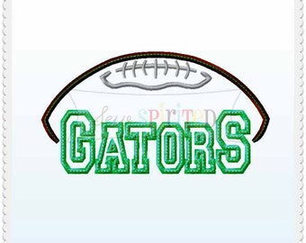 Gators Football Applique Embroidery Design