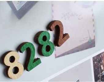 Wooden Sticker [alphabet & number]