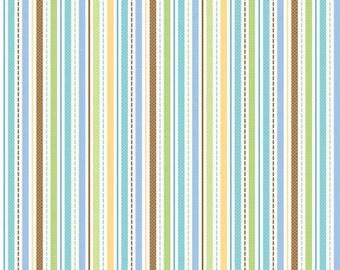 Snips & Snails Stripes Multi by Riley Blake Designs 1/2 Yard 100% Designer Cotton by Doodlebug Designs C3546-MULTI