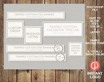 Etsy Banner Etsy Banner Shop Set Bundle - ILB006, You'll receive 7 designs