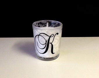 10 - One letter initial/monogram decals (can be different or the same letters)