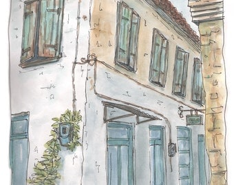 The Old Bakery - Fine Art Giclee Print on Archival Paper - from an Original Watercolour Painting