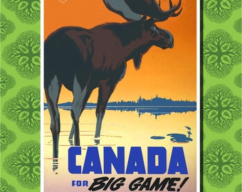 Canada Travel Poster Wall Decor, Travel Art (7 print sizes available)