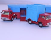 Corgi Toys Chipperfields metal vintage circus truck and trailor red and blue
