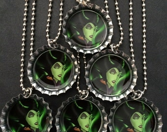 Maleficent party Favors Bottle Cap Party favors (6) add more for 2 dollars each
