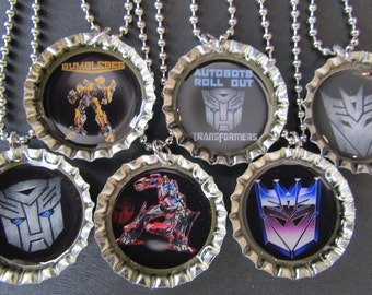 Transformers party Favors Bottle Cap Party favors (6)