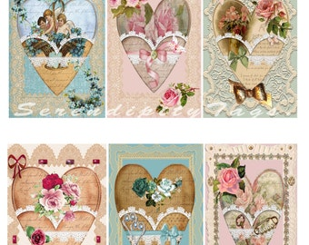 Romantic Heart Tags