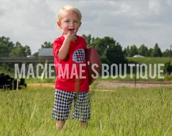 Alabama Crimson Tide Football Outfit - Houndstooth Outfit - Football Shirt - Football outfit - Alabama Outfit - Southern boy outfit