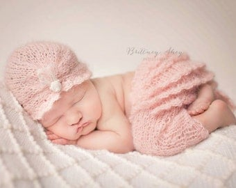 Ruffle Bum Set - PDF PATTERN - newborn baby toddler knit photo prop