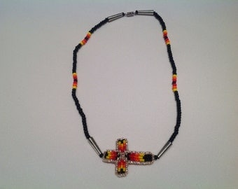 Native American Beaded Side-Cross