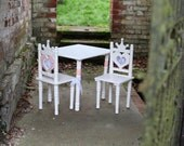 Girls table and chairs - princess - great Christmas gift - shabby chic