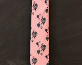 Vintage Hand Sewn by Robert Talbott Pink Silk Tie with Hot Air Balloons for Kountz and Rider Shadyside