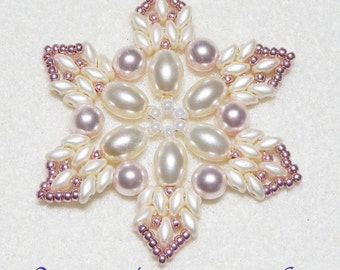 Snowflake #10 Beaded Ornament Pattern